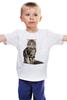 """Детская футболка классическая унисекс """"Милый пушистый кот     """" - кот, кошка, котэ, алина макарова, мэйн кун"""
