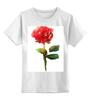 """Детская футболка классическая унисекс """"С 8 марта!"""" - цветы, rose, роза, акварель, tseart"""