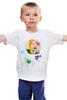 """Детская футболка классическая унисекс """"Креативный портрет"""" - авторские майки, smile, рисунок, улыбайся, color"""