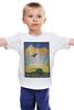 """Детская футболка """"Космический туризм"""" - планета, космос, звёзды, научная фантастика, постер"""
