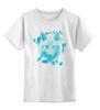"""Детская футболка классическая унисекс """"Белый Волк"""" - животные, абстракция, волк, wolf"""