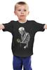 """Детская футболка классическая унисекс """"Скелет с плеером"""" - skull, череп, скелет, кости"""