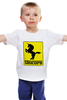 "Детская футболка классическая унисекс ""Unicorn x Ferrari"" - unicorn, ferrari, единорог, феррари"