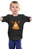 """Детская футболка """"Кусочек Пиццы (Pizza)"""" - пицца, pizza, колбаска, яичко"""