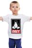 """Детская футболка """"Linux (Obey)"""" - пингвин, obey, линукс, unix, повинуйся"""