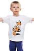 """Детская футболка классическая унисекс """"Две Лисички (fox)"""" - fox, лиса, лисенок, лисичка"""