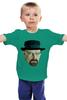 """Детская футболка классическая унисекс """"Уолтер Уайт"""" - во все тяжкие, breaking bad, walter white, полигоны"""