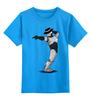 """Детская футболка классическая унисекс """"Robocop x Jackson"""" - пародия, майкл джексон, mj, робокоп, robocop"""