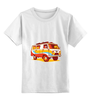 """Детская футболка классическая унисекс """"Хиппи Уазик"""" - сноуборд, hippie, хиппи, уаз"""