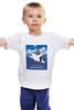 """Детская футболка """"Хабаровский аэропорт с Путиным (медведь)"""" - медведь, русский медведь, путин на медведе, хабаровский аэропорт"""