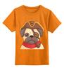 """Детская футболка классическая унисекс """"Мопс-пират"""" - пиратский"""