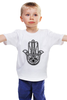 """Детская футболка классическая унисекс """"Hamsa Lotus Eye"""" - hamsa, хамса"""