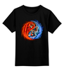 """Детская футболка классическая унисекс """"Yin Yang"""" - инь и янь, yin yang, инь янь, орёл, тигр"""