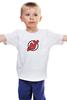 """Детская футболка классическая унисекс """"NJ Devils"""" - хоккей, спортивная, nhl, нхл, devils, нью джерси, nj"""