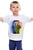 """Детская футболка классическая унисекс """"Моника Белуччи"""" - птицы, monica bellucci, актриса, моника белуччи, топ-модель"""