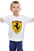 """Детская футболка """"Черный Жеребец (Феррари)"""" - ferrari, феррари"""