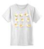 """Детская футболка классическая унисекс """"""""Пост попугай""""  """" - арт, cute, yellow, bird, parrot"""