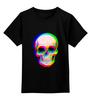 """Детская футболка классическая унисекс """"Череп 3D"""" - абстракция, 3d, skull, череп"""