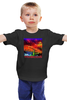 """Детская футболка классическая унисекс """"Moscow Love"""" - арт, москва, moscow, патриот, ночная москва"""