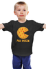"Детская футболка ""Пак-Пицца"" - еда, игры, pac-man, пицца, пакмен"
