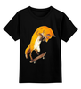 """Детская футболка классическая унисекс """"Скейтер"""" - арт, скейт, необычно, лисы, skateboard"""