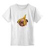 """Детская футболка классическая унисекс """"Мопс и банановая кожура"""" - pug, пёс, банан, мопс, банановая кожура"""