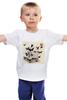 """Детская футболка """"Череп"""" - skull, череп, бабочки, цветы, черепа, солнце, кости, death, butterflies"""