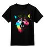 """Детская футболка классическая унисекс """"Волчий оскал"""" - арт, абстракция, волк, оскал, wolf"""