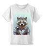 """Детская футболка классическая унисекс """"Деловой енот"""" - модно, стиль, енот, деловой, racoon"""