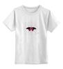 """Детская футболка классическая унисекс """"Бабочка в паутине"""" - бабочка, butterfly"""