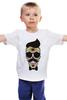"Детская футболка ""Череп, усы и бабочка"" - skull, череп, арт, усы, hipster, mustache"