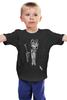 """Детская футболка классическая унисекс """"Мистер Волк"""" - хищник, смокинг, animal, волк, smoking, wolf"""