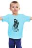 """Детская футболка """"Медведь на велосипеде"""" - арт, bear, медведь, велосипед"""
