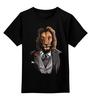 """Детская футболка классическая унисекс """"Мистер Лев"""" - king, хищник, лев, lion, animal, царь зверей"""