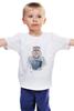 """Детская футболка классическая унисекс """"Queen cat"""" - кошка, арт, queen, queen cat, королева кошка"""