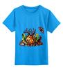 """Детская футболка классическая унисекс """"Ряибна т"""" - арт, бабочка, осень, природа, олень, замок, ключ, tm kiseleva, лесной страж, рябина"""
