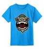 """Детская футболка классическая унисекс """"Обезьяна (Monkey)"""" - обезьяна, monkey, бандит, 2016, год обезьяны"""