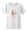 """Детская футболка классическая унисекс """"donut touch me"""" - арт, смешные, еда, девушке, пончик, donut, do not"""