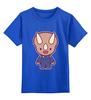 """Детская футболка классическая унисекс """"Dino Cop (Kung Fury)"""" - kung fury, кунг фьюри"""