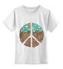 """Детская футболка классическая унисекс """"Pacific"""" - арт, peace, пацифизм"""