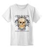 """Детская футболка классическая унисекс """"Oblivion"""" - череп, ангел, дизайн, oblivion, забвение"""