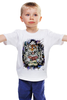 "Детская футболка "" Тигр Old School"" - tiger, тигр, old school, тату"