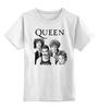 """Детская футболка классическая унисекс """"Queen group"""" - queen, rock music, куин, фредди меркьюри, freddie mercury"""