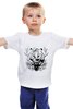 """Детская футболка """"Тигриный глаз - принт и эскиз татуировки"""" - арт, графика, тигр, иллюстрация"""