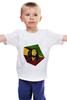 """Детская футболка классическая унисекс """"Bob Marley"""" - регги, ямайка, боб марли, bob marley, reggae, боб, ска, марли"""