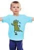 """Детская футболка классическая унисекс """"Арахис спортсмен"""" - бег, фитнес, fitness, run, nuts"""