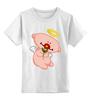 """Детская футболка классическая унисекс """"Ангел с цветком"""" - любовь, крылья, цветок, ангел, нимб"""