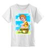 """Детская футболка классическая унисекс """"Пацифист """" - пацыфика, какает"""