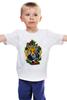 """Детская футболка классическая унисекс """"лиса с голубем"""" - fox, лиса, dove"""