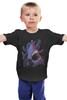 """Детская футболка классическая унисекс """"Акула vs Осьминог"""" - octopus, абстракция, осьминог, акула, shark"""